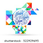 christmas design and elements... | Shutterstock .eps vector #522929695