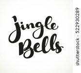 jingle bells black calligraphic ... | Shutterstock .eps vector #522930289