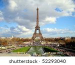 the eiffel tower  paris  france | Shutterstock . vector #52293040