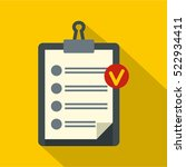 clipboard with checklist icon.... | Shutterstock .eps vector #522934411