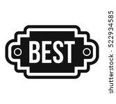 best label icon. simple... | Shutterstock .eps vector #522934585