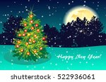 night green background greeting ... | Shutterstock . vector #522936061