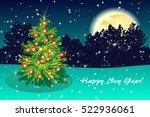 night green background greeting ... | Shutterstock . vector #522936061