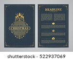 christmas greeting card design. ...   Shutterstock .eps vector #522937069