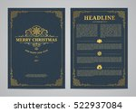 christmas greeting card design. ... | Shutterstock .eps vector #522937084