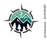 mountain logo | Shutterstock .eps vector #522939487