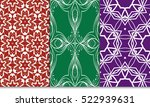 set of green  red  purple color ... | Shutterstock .eps vector #522939631