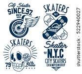 skate board typography  t shirt ... | Shutterstock .eps vector #522940027