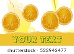 orange juice | Shutterstock .eps vector #522943477