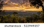 sunset in kondalilla national... | Shutterstock . vector #522949357