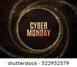 cyber monday big sale banner... | Shutterstock .eps vector #522952579