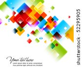 intensive colors   abstract... | Shutterstock .eps vector #52295905