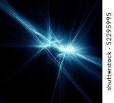 Blue Fractal Star