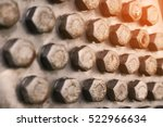 bolts and nuts in machinery for ... | Shutterstock . vector #522966634