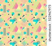 abstract seamless pattern from... | Shutterstock .eps vector #522967975