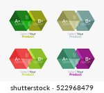 set of business hexagon layouts ... | Shutterstock .eps vector #522968479