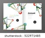 geometric molecule abstract... | Shutterstock .eps vector #522971485