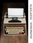 old typewriter on wood | Shutterstock . vector #522972574