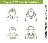 occupations avatar set  support ... | Shutterstock .eps vector #522977329