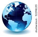 world globe   Shutterstock .eps vector #52298155