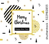 christmas and new year flat... | Shutterstock .eps vector #522982855
