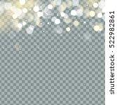 falling christmas shining ... | Shutterstock .eps vector #522982861