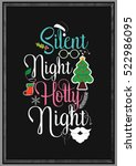 christmas quote. silent night...