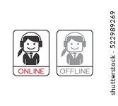 customer service operator... | Shutterstock . vector #522989269
