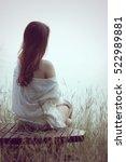 alone woman | Shutterstock . vector #522989881