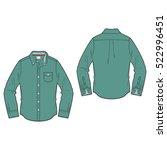 men oxford shirt template | Shutterstock .eps vector #522996451
