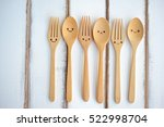 Happy Wooden Forks And Spoons...