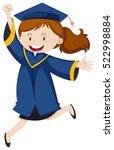 girl in blue graduation ...   Shutterstock .eps vector #522998884