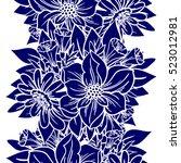 abstract elegance seamless... | Shutterstock .eps vector #523012981