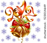 vector christmas and new year... | Shutterstock .eps vector #523014649