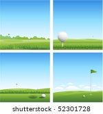 four golf backgrounds   Shutterstock .eps vector #52301728