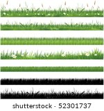 green grass collection | Shutterstock .eps vector #52301737