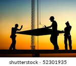 group of the workers on a... | Shutterstock . vector #52301935
