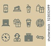 set of 12 airport icons. can be ...