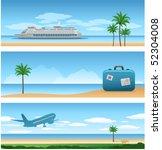 three travel backgrounds | Shutterstock .eps vector #52304008