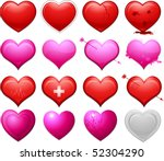heart icons   Shutterstock .eps vector #52304290