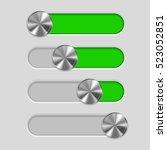 user interface slider. metal...