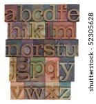 english alphabet  lower case ... | Shutterstock . vector #52305628