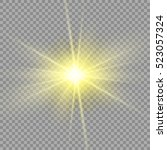 vector transparent sunlight... | Shutterstock .eps vector #523057324