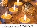 Golden Christmas Candles...