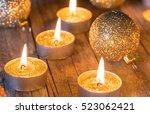 Golden Christmas Candles...