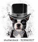 french bulldog illustration   Shutterstock . vector #523063327