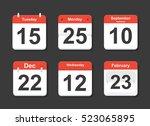 calendar icons vector set in a...