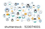 graphic representation social... | Shutterstock .eps vector #523074031