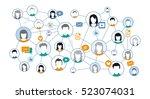 graphic representation social... | Shutterstock .eps vector #523074031