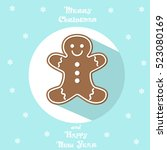 holiday symbol. icon cute... | Shutterstock .eps vector #523080169